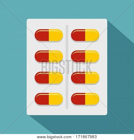 Capsules icon. Flat illustration of capsules vector icon for web