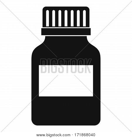 Medicine bottle icon. Simple illustration of medicine bottle vector icon for web