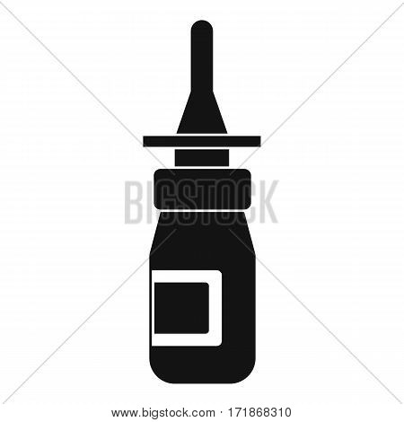 Nasal drops icon. Simple illustration of nasal drops vector icon for web