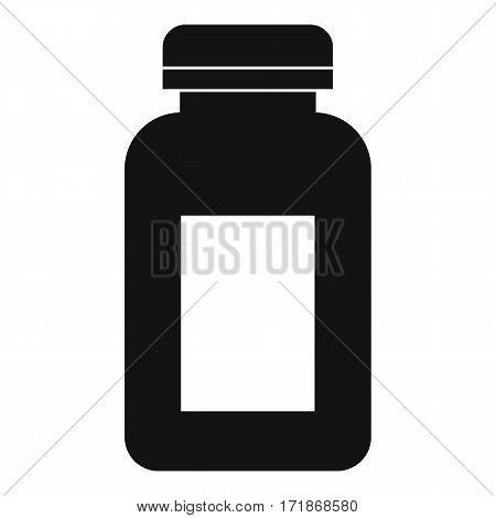 Medicine jar icon. Simple illustration of medicine jar vector icon for web