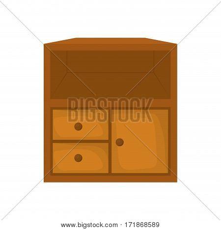 Small wooden closet icon vector illustration graphic design
