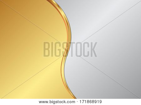 metallic background divided into two - vector illustration