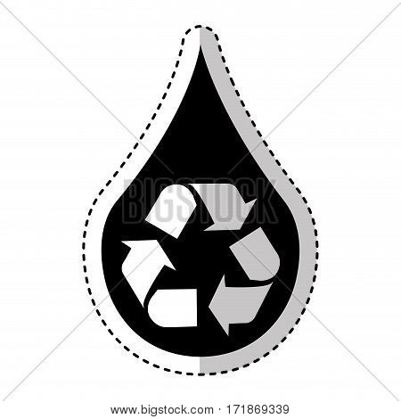 pure water with recycle symbol vector illustration design