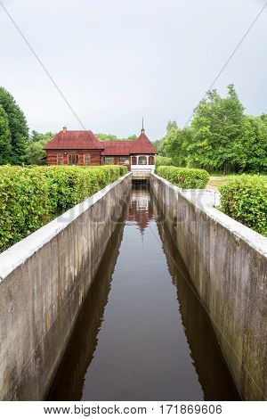 hydroelectric dam in Yaropolets Volokolamsk district Moscow region Russia