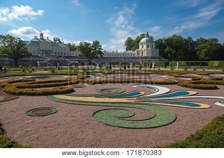 Oranienbaum is a Russian royal residence located on the Gulf of Finland west of Saint Petersburg. The Palace ensemble and the city centre are UNESCO World Heritage Sites