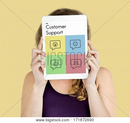 Rating Customer Survey Support Emotion Icons