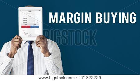 Stock exchange financial graph chart
