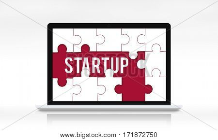 New Start up Business Venture puzzle graphic