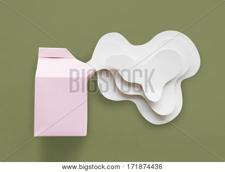 Paper Craft Arts Milk Carton Spill Out