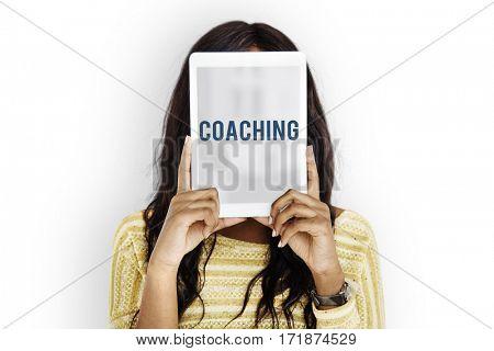 Coaching overlay word young people