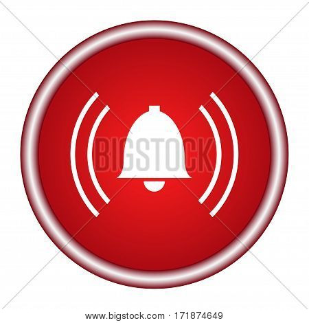 alarm red circle web glossy icon, Vector