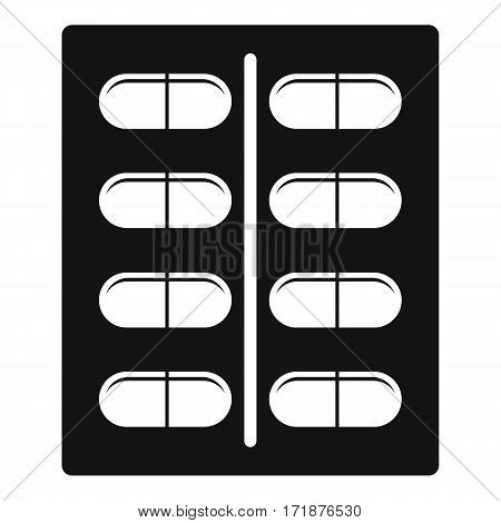 Capsules icon. Simple illustration of capsules vector icon for web
