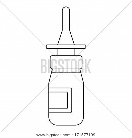 Nasal drops icon. Outline illustration of nasal drops vector icon for web