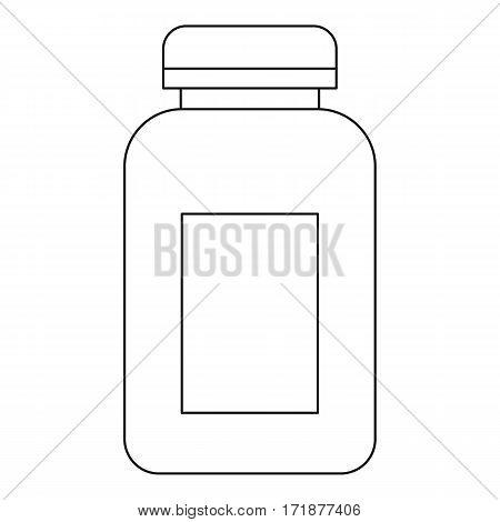 Medicine jar icon. Outline illustration of medicine jar vector icon for web