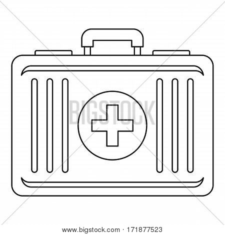 First aid icon. Outline illustration of first aid vector icon for web