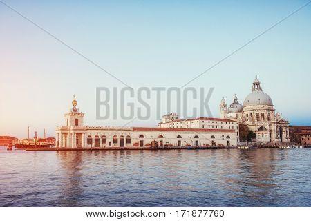 Fantastic views of the Grand Canal and the Basilica Santa Maria.