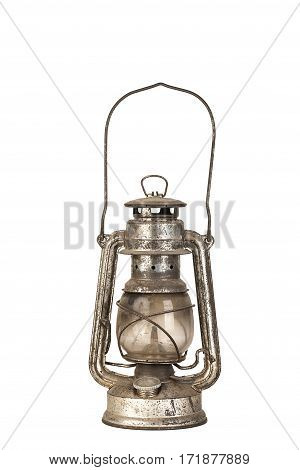 Old Kerosene Lantern Isolated