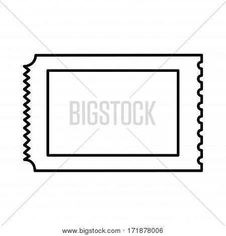ticket entrance isolated icon vector illustration design