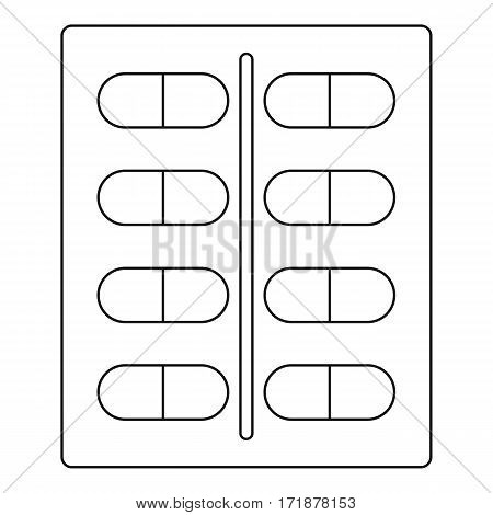 Capsules icon. Outline illustration of capsules vector icon for web