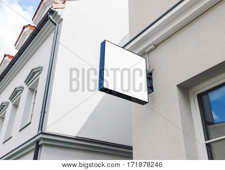 Modern empty outdoor signage mockup to add company logo