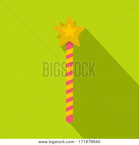 Magic wand icon. Flat illustration of magic wand vector icon for web