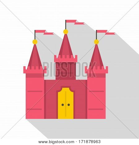 Castle icon. Flat illustration of castle vector icon for web