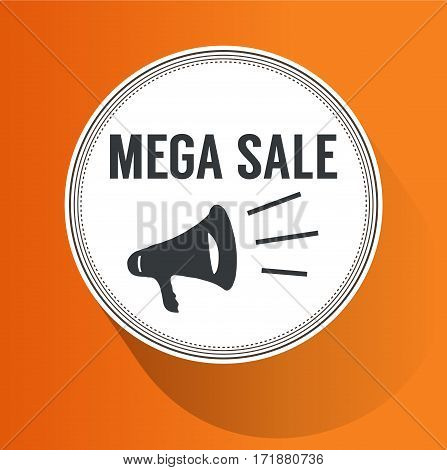 orange background with word sale vector eps