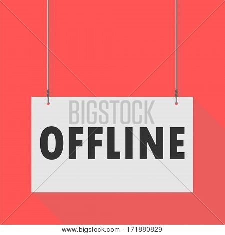 Simple Hanging Sign offline on red background