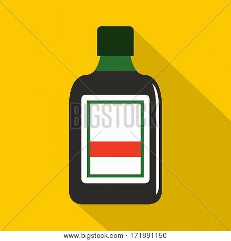 Plastic bottle icon. Flat illustration of plastic bottle vector icon for web