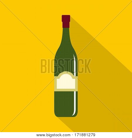 One bottle icon. Flat illustration of one bottle vector icon for web