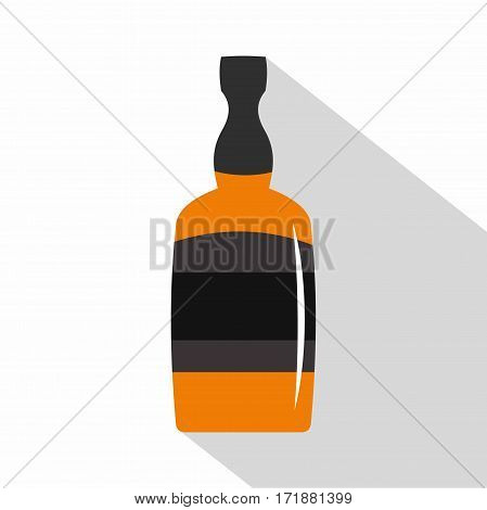 Brandy bottle icon. Flat illustration of brandy bottle vector icon for web