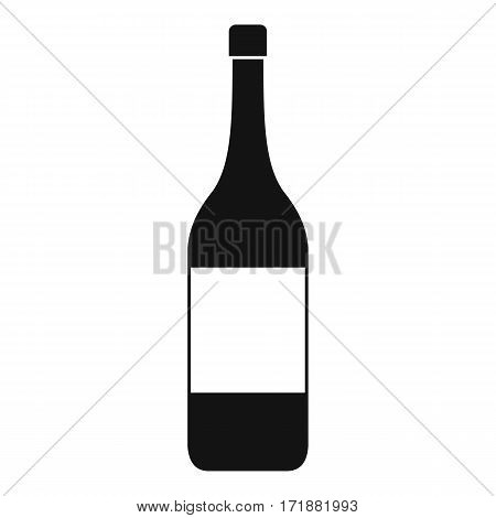 Wine bottle icon. Simple illustration of wine bottle vector icon for web