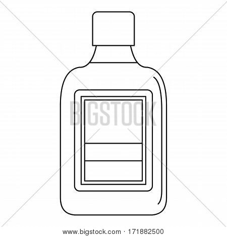 Plastic bottle icon. Outline illustration of plastic bottle vector icon for web