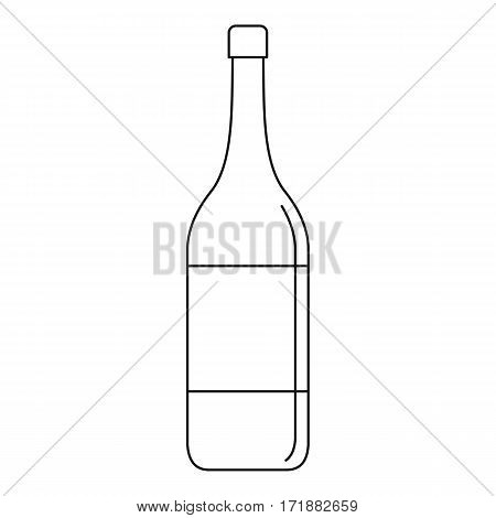 Wine bottle icon. Outline illustration of wine bottle vector icon for web