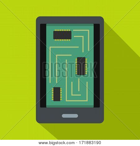 Phone innards icon. Flat illustration of phone innards vector icon for web