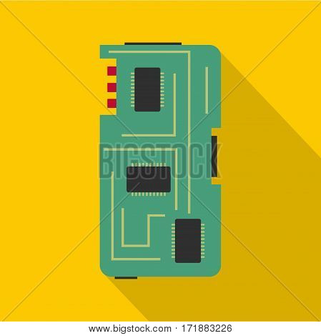Phone chip icon. Flat illustration of phone chip vector icon for web
