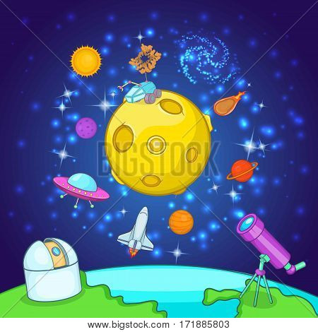 Space exploration concept set. Cartoon illustration of space exploration vector concept for web