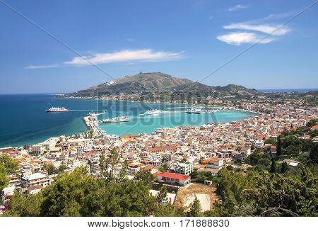 The capital of the island of Zakynthos - Zakynthos Town. Greece