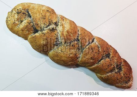 Vegetarian Food - homemade bread with poppy seeds