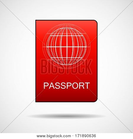 Passport vector icon, document isolated on white background