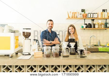 Team Of Baristas Ready For Work