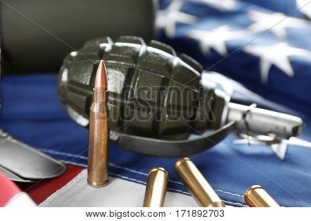 Military set on American flag