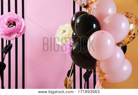 Beautiful room decorated for party