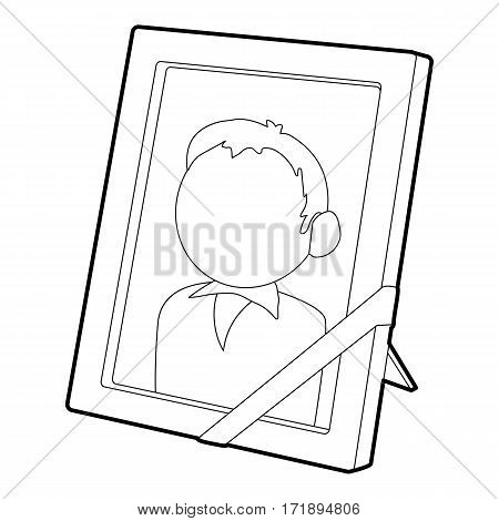 Memory portrait icon. Outline illustration of memory portrait vector icon for web