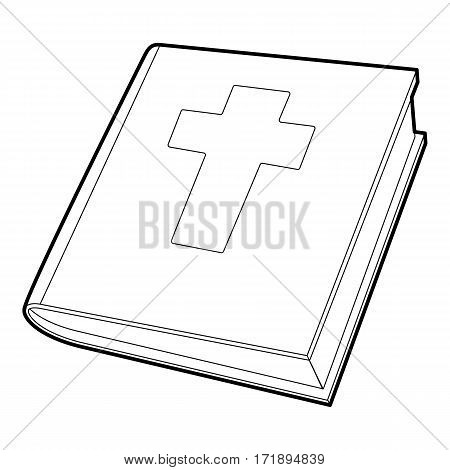 Bible icon. Outline illustration of bible vector icon for web
