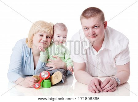 Happy Family With Toddler