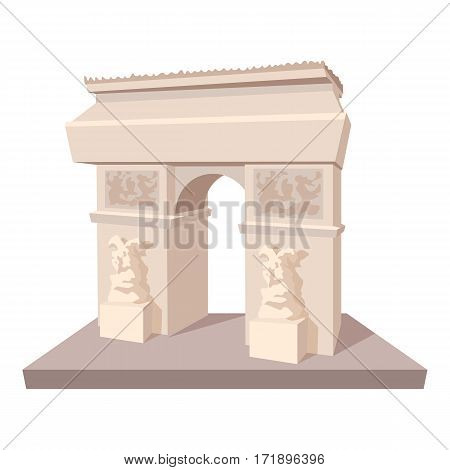 Triumphal arch icon. Cartoon illustration of triumphal arch vector icon for web