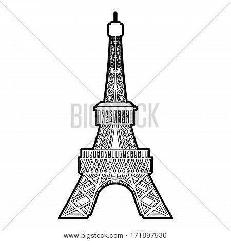 Eiffel tower icon. Outline illustration of eiffel tower vector icon for web