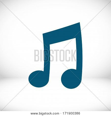music icon stock vector illustration flat design