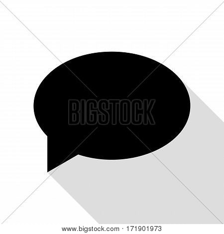 Speech bubble icon. Black icon with flat style shadow path.